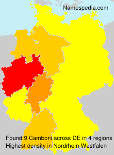 Surname Camboni in Germany