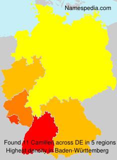 Surname Camilleri in Germany