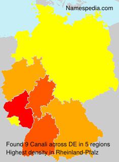 Familiennamen Canali - Germany