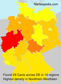 Surname Canis in Germany
