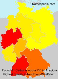 Surname Carbone in Germany