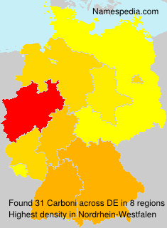 Surname Carboni in Germany