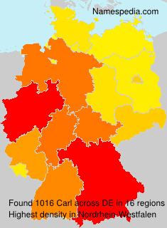 Surname Carl in Germany