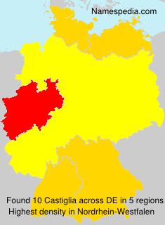 Surname Castiglia in Germany