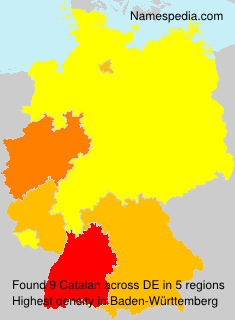 Surname Catalan in Germany