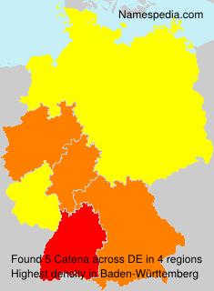 Familiennamen Catena - Germany