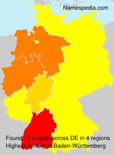 Familiennamen Caylak - Germany