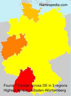 Familiennamen Cender - Germany