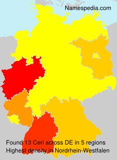 Surname Ceri in Germany