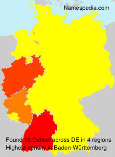 Familiennamen Cetinel - Germany