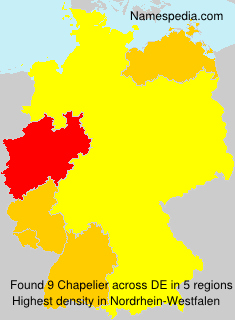 Surname Chapelier in Germany