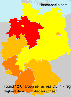 Surname Charbonnier in Germany