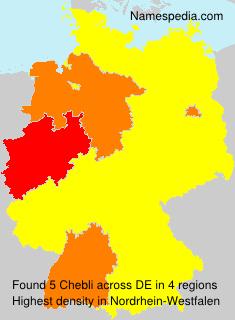 Familiennamen Chebli - Germany