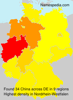 Surname China in Germany
