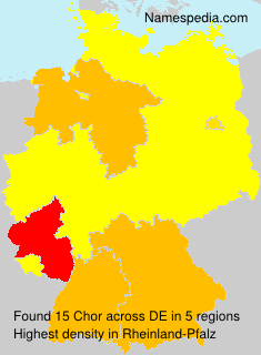 Surname Chor in Germany