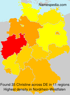 Familiennamen Christine - Germany