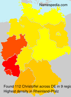 Surname Christoffel in Germany