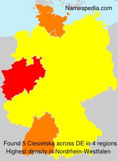 Familiennamen Ciesielska - Germany