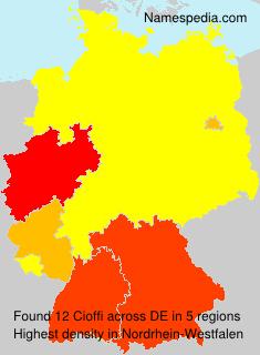 Surname Cioffi in Germany