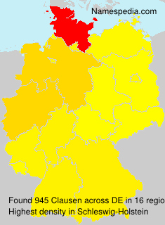 Familiennamen Clausen - Germany