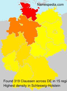 Familiennamen Claussen - Germany