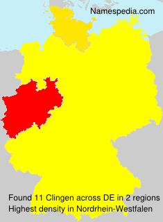 Surname Clingen in Germany
