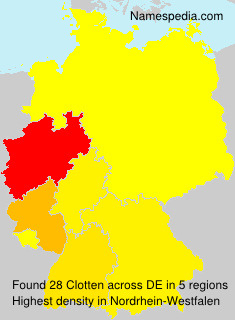 Surname Clotten in Germany