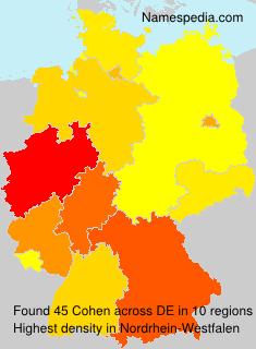 Familiennamen Cohen - Germany