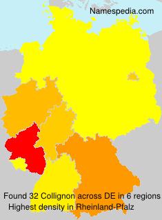 Surname Collignon in Germany