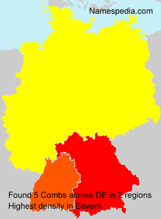 Surname Combs in Germany