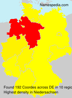 Surname Coordes in Germany