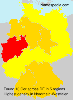 Surname Cor in Germany