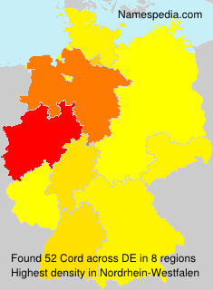Surname Cord in Germany