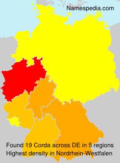 Familiennamen Corda - Germany