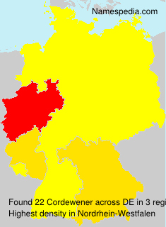 Surname Cordewener in Germany