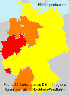 Surname Corica in Germany