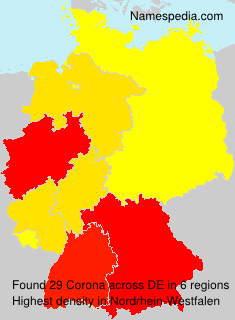 Surname Corona in Germany