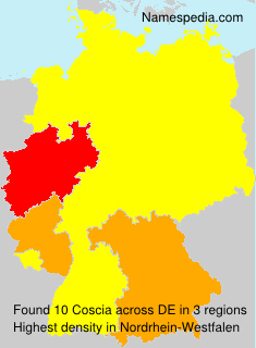 Surname Coscia in Germany
