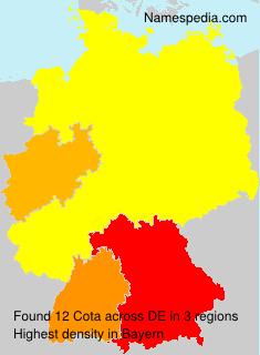 Familiennamen Cota - Germany