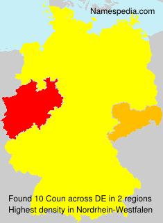 Surname Coun in Germany