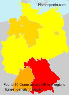 Surname Crane in Germany