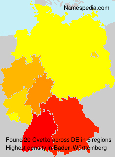Surname Cvetko in Germany