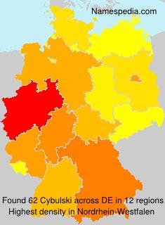 Familiennamen Cybulski - Germany