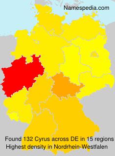 Familiennamen Cyrus - Germany