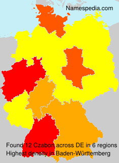 Surname Czabon in Germany