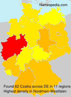 Surname Czaika in Germany