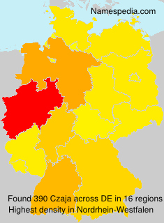 Surname Czaja in Germany