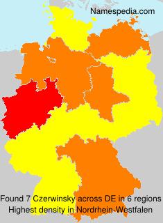 Familiennamen Czerwinsky - Germany