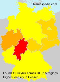Surname Czybik in Germany