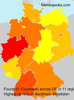 Surname Czyzewski in Germany